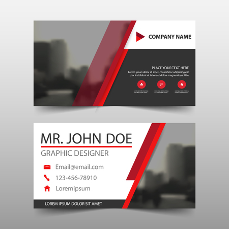 Red black corporate business card name card template horizontal red black corporate business card name card template horizontal simple clean layout design template accmission Images