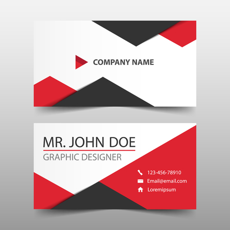 Red triangle corporate business card name card template horizontal red triangle corporate business card name card template horizontal simple clean layout design template friedricerecipe Gallery