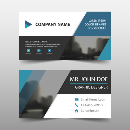 Blue triangle corporate business card name card template blue triangle corporate business card name card template horizontal simple clean layout design template cheaphphosting Image collections