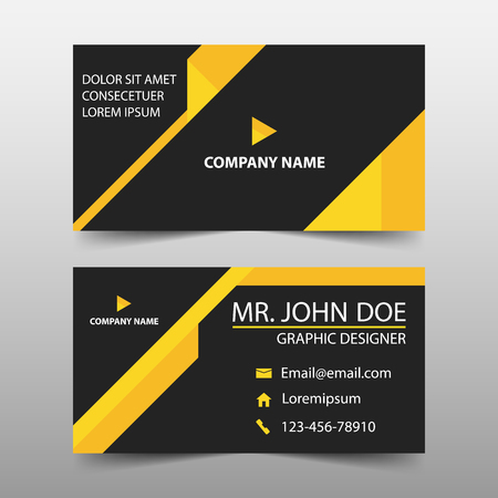 Yellow triangle corporate business card name card template vector yellow triangle corporate business card name card template horizontal simple clean layout design template business banner template for website cheaphphosting Choice Image