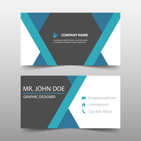 Blue triangle corporate business card name card template blue triangle corporate business card name card template horizontal simple clean layout design template flashek Image collections