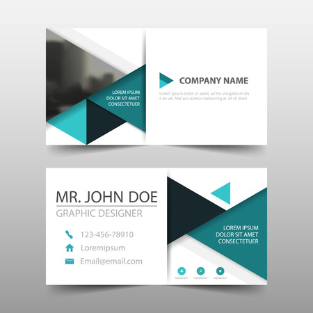Green triangle corporate business card name card template green triangle corporate business card name card template horizontal simple clean layout design template friedricerecipe Gallery