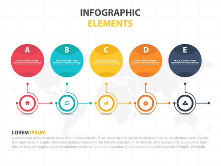 Business Infographic timeline process template, Colorful Banner text box desgin for presentation, presentation for workflow diagram design