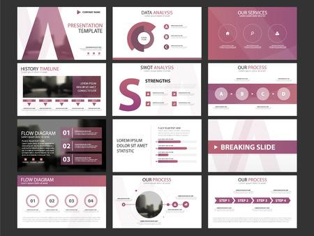 Infographic Elementschablonensatz der Geschäftsdarstellung, horizontale Broschürenentwurfsschablone des Jahresberichtes Unternehmens Standard-Bild - 86260727