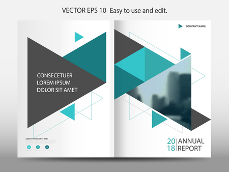 Abstract triangle annual report Brochure design template vector. Business Flyers infographic magazine poster.Abstract layout template ,Book Cover presentation portfolio