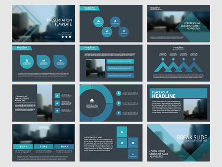 Blue Abstract presentation templates vector illustration.