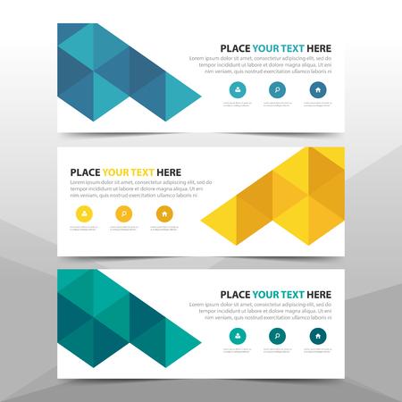 Corporate business banner template design. Stock Illustratie