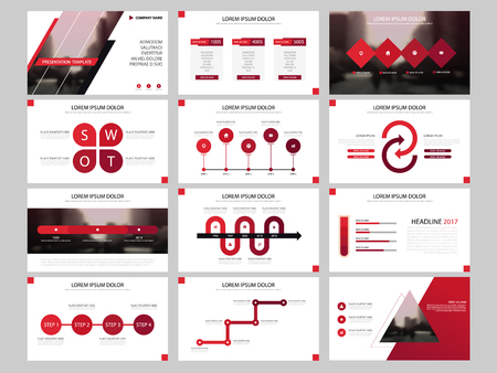 Bundle infographic elements presentation template. business annual report, brochure, leaflet, advertising flyer, corporate marketing banner.