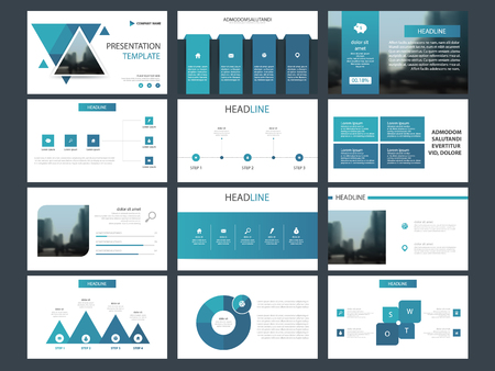 Blue triangle Bundle infographic elements presentation template. business annual report, brochure, leaflet, advertising flyer, corporate marketing banner