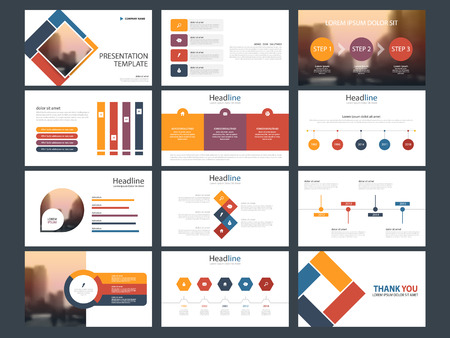 Colorful square Bundle infographic elements presentation template. business annual report, brochure, leaflet, advertising flyer, corporate marketing banner