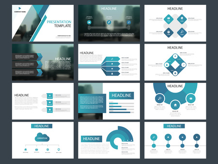 Blue Bundle infographic elements presentation template. business annual report, brochure, leaflet, advertising flyer, corporate marketing banner Stock Illustratie