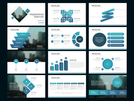 Blue Bundle infographic elements presentation template. business annual report, brochure, leaflet, advertising flyer, corporate marketing banner 向量圖像