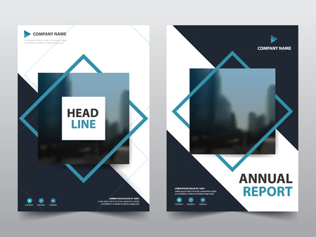 Blue abstract square annual report Brochure design template vector. Business Flyers infographic magazine poster.Abstract layout template ,Book Cover presentation portfolio. Ilustrace