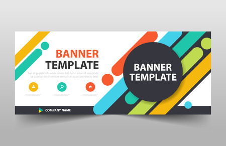 colorful banner template header cover design