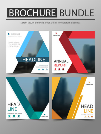 Bundle brochure annual report Brochure design template vector. Business Flyers infographic magazine poster.Abstract layout template ,Book Cover presentation portfolio.