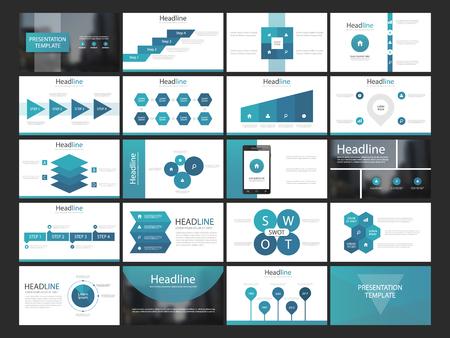 Blue Infographic presentation templates elements flat design set,annual report,flyer,brochure templates set
