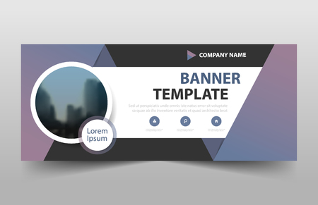 Corporate business banner template, horizontal advertising business banner layout template sign set , clean abstract cover header background Cfor website design 向量圖像
