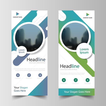 Business Roll Up Banner flat design template ,Abstract Geometric banner template Vector illustration set, abstract presentation brochure flyer template vertical vector