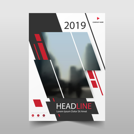 Red annual report Leaflet Brochure Flyer template design, book cover layout design, abstract business presentation template, a4 size design