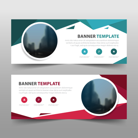 Corporate business banner template, horizontal advertising business banner layout template sign set , clean abstract cover header background for website design
