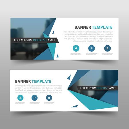 Modello di banner aziendale aziendale, set di segni modello di layout banner pubblicitario aziendale orizzontale, sfondo pulito dell'intestazione di copertina astratta per il design del sito web Vettoriali