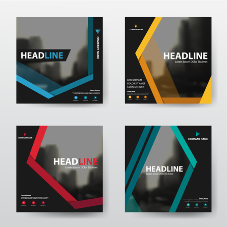 Bundle abstract annual report Brochure design template vector. Business Flyers infographic magazine poster.Abstract layout template ,Book Cover presentation portfolio.