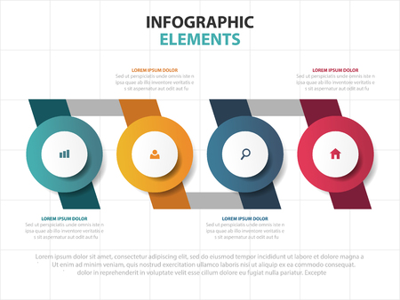 Abstract colorful business Infographics elements, presentation template flat design vector illustration for web design marketing advertising