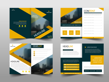 Yellow black abstract annual report Brochure design template vector. Business Flyers infographic magazine poster.Abstract layout template ,Book Cover presentation portfolio. 向量圖像