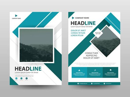 Blue abstract flyer annual report Brochure design template vector. Business Flyers infographic magazine poster.Abstract layout template ,Book Cover presentation portfolio.