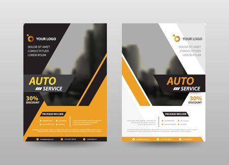 Rapport annuel de flyer abstrait Vecteur de modèle de conception de brochure. Affiche du magazine infographique Business Flyers. Modèle de mise en page abstraite, portefeuille de présentation de couverture de livre.
