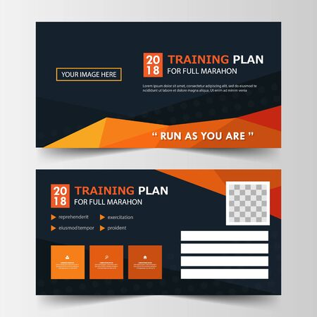 member card corporate business card, name card template, horizontal simple clean layout design template, Business banner template for website 向量圖像