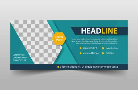 corporate business banner template, horizontal advertising business banner layout template sign set, clean abstract cover header background for website design