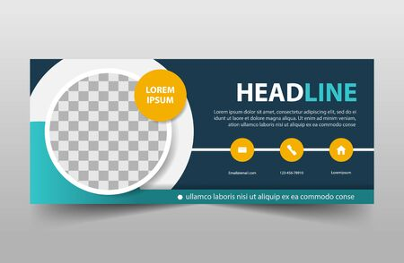 corporate business banner template, horizontal advertising business banner layout template sign set , clean abstract cover header background for website design 向量圖像