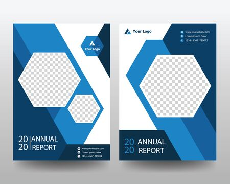 Flyer leaflet brochure cover annual report template with circles intersections. Creative abstract brochure set, annual report, horizontal cover, 向量圖像