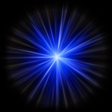 Supernova star burst created in image editor from scratch Stock Photo
