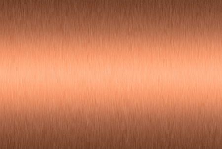 Brushed Kupferplatte mit den mittel-Highlight  Standard-Bild