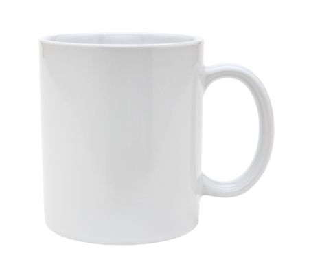 White mug empty blank for coffeó or tea isolated on white background with clipping path Stock Photo