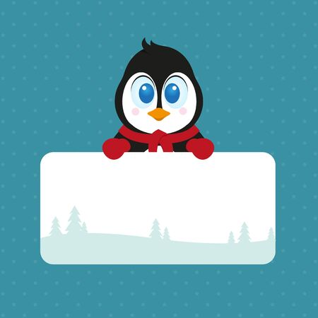 Christmas pinguin  Stock Vector - 17686192
