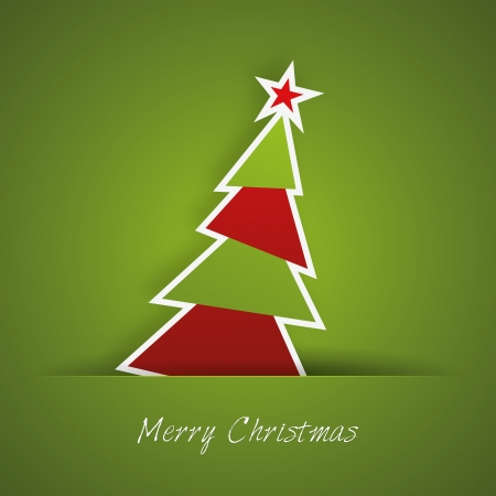 Christmas tree with green background Stock Vector - 17686291