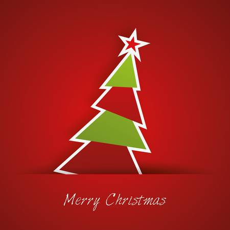 Christmas tree with red background Stock Vector - 17686290