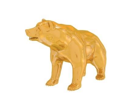 Golden finance bear Stock Photo - 17850556