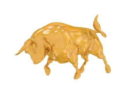 Golden finance bull