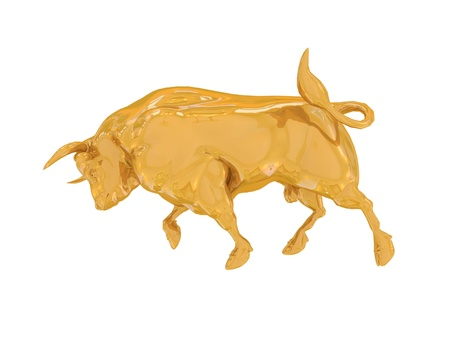 Golden finance bull photo