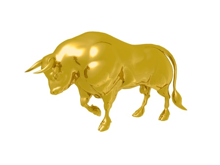 Gold Bull Stock Photo