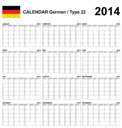 Calendar german Stock Vector - 17850963