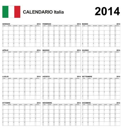 Calendar italy  Stock Vector - 17850962