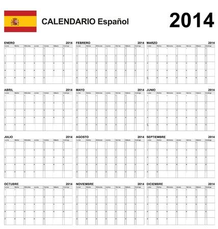 Calendar spain  Stock Vector - 17850968