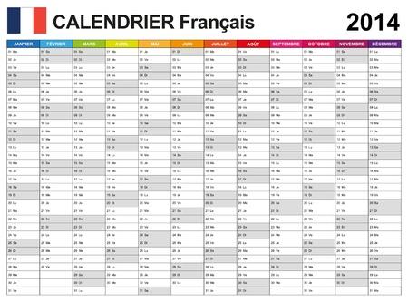 달력 2014 프랑스어
