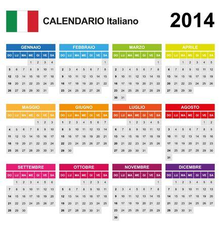 Calendar 2014 Italy Stock Vector - 17850947