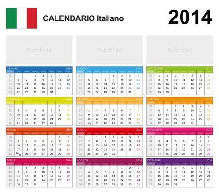 Calendar 2014 Italy  Stock Vector - 17850971